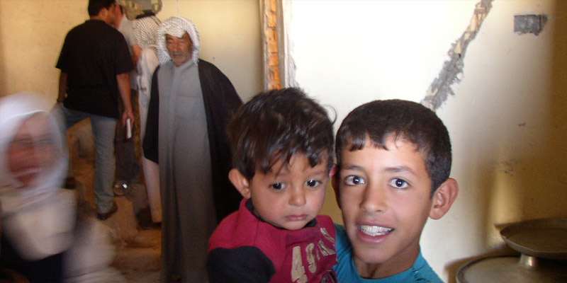 Marsh Arab children from Majar al-Kabir, the scene of the brutal murder of six British Royal Military Police officers in 2006